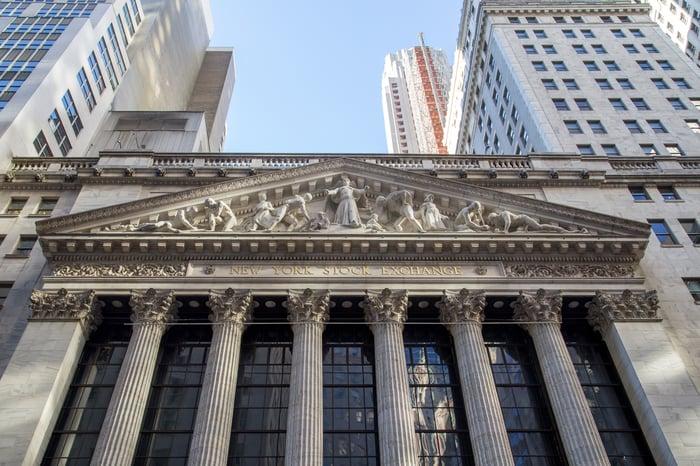 New York Stock Exchange building facade.