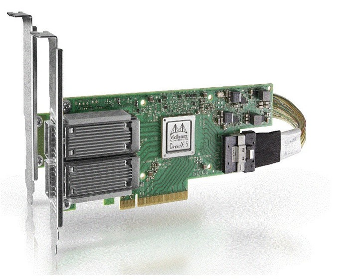 A Mellanox ConnectX adapter card