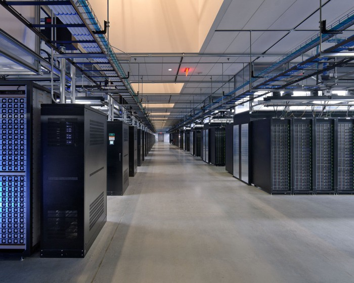 Servers at a Facebook data center.