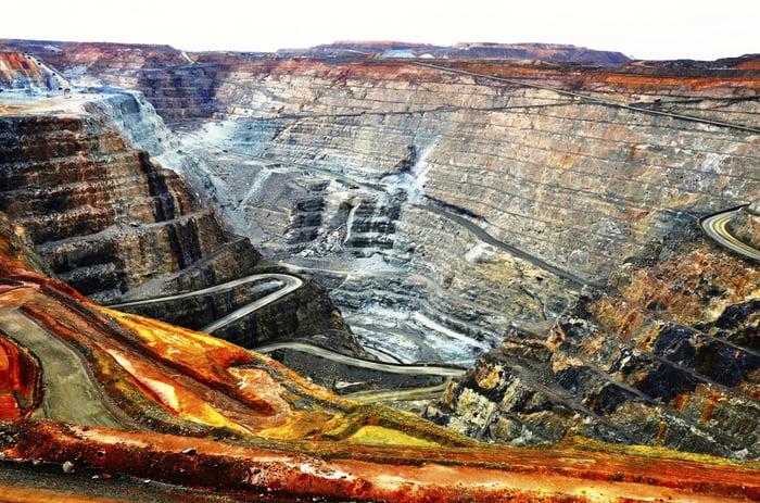 An open pit mine.