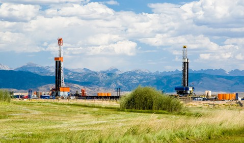 drilling rig mountains