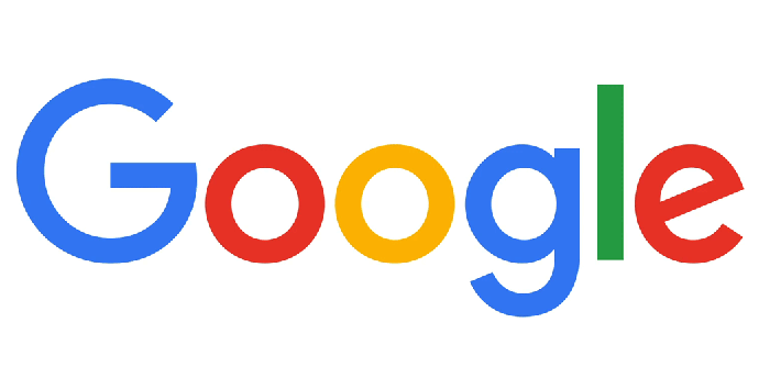 Google logo in four colors.