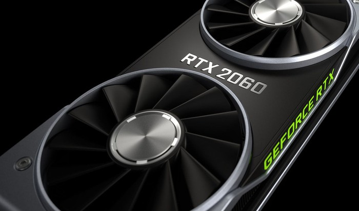 The NVIDIA GeForce RTX 2060 graphics card.