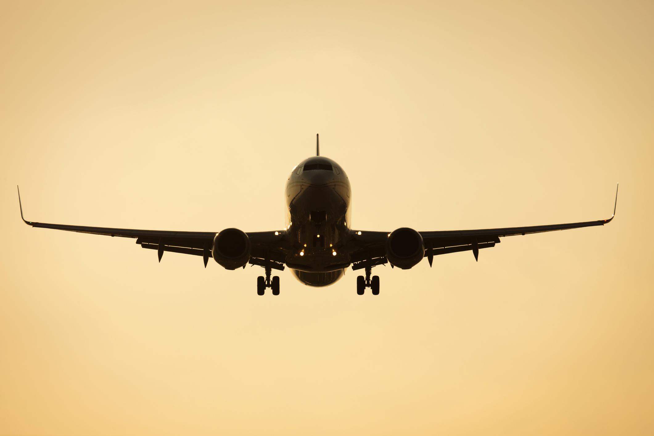 A Boeing 737 in flight.