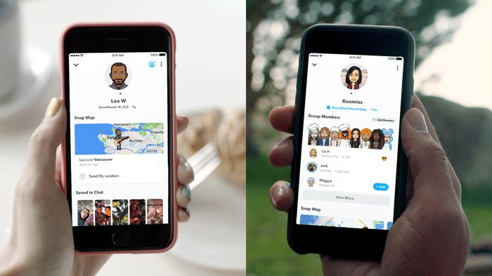 Friendship profiles on Snapchat