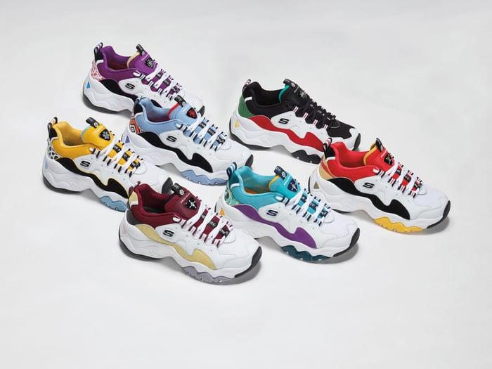 Skechers shoes.