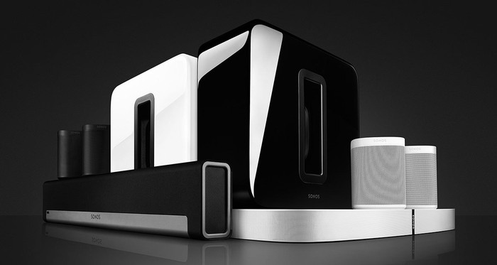 A Sonos surround sound system.