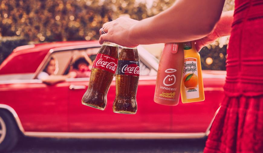 Coca-Cola drinks.