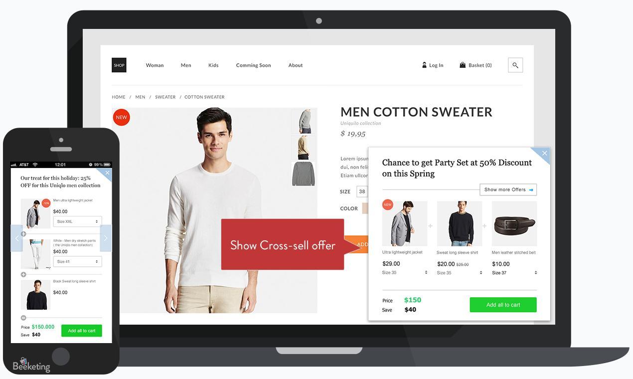 Shopify platform across different devices.