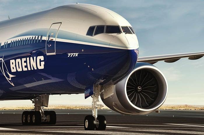 A Boeing 777X.