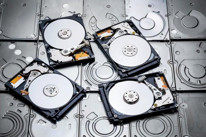 Hard disk drives.