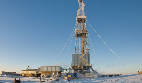 drilling rig winter 2