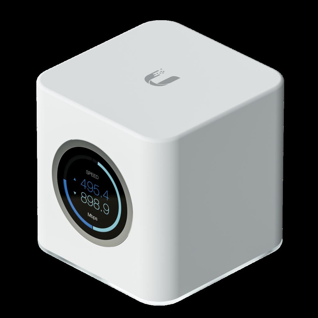 A white box AmpliFi router by Ubiquiti.