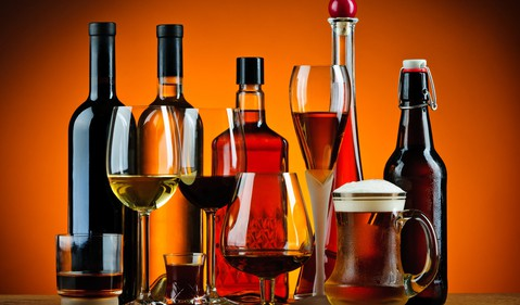 alcohol bottles getty
