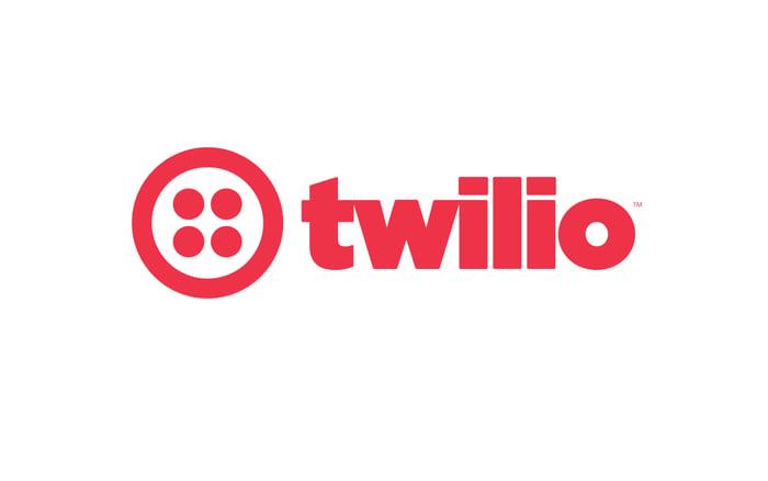 Twilio's corporate logo, red on white.