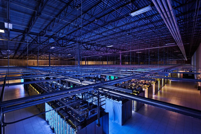 Interior of a Google data center