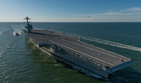 HHI USS Gerald R Ford source HII