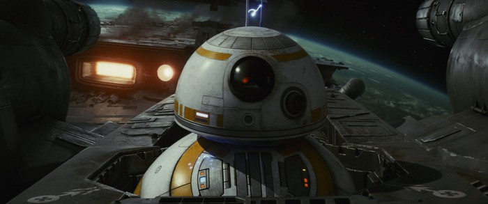 BB-8 in Star Wars Episode VIII.