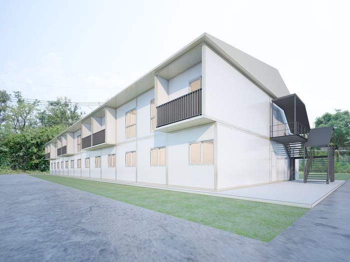 Modular residential building.