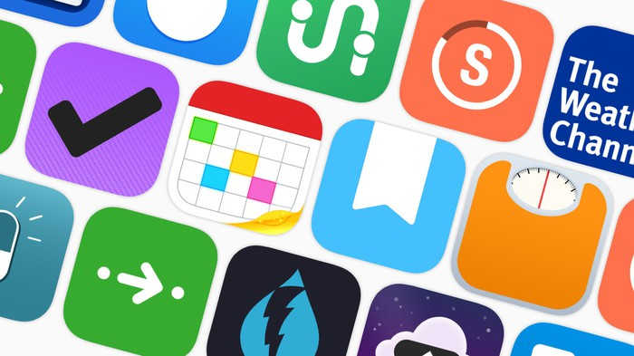 Graphic of app icons.