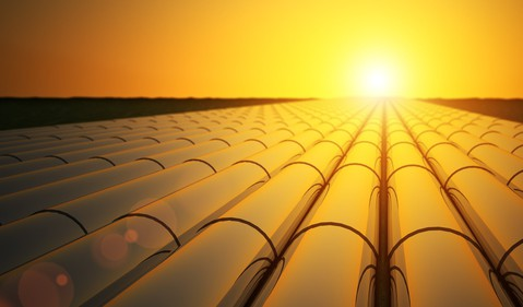 oil gas pipelines at sunset
