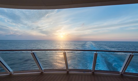 Scenic View from a Cruise Ship Deck