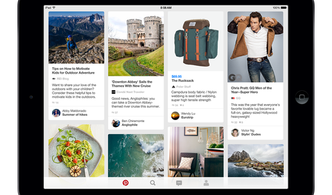 Pinterest iPad_homefeed