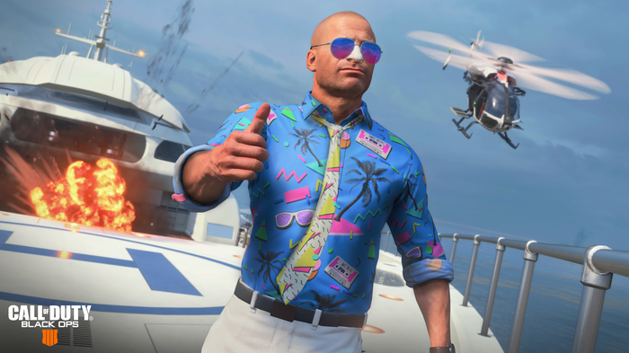 A virtual man with a blue shirt and tie giving the screen a thumbs-up.