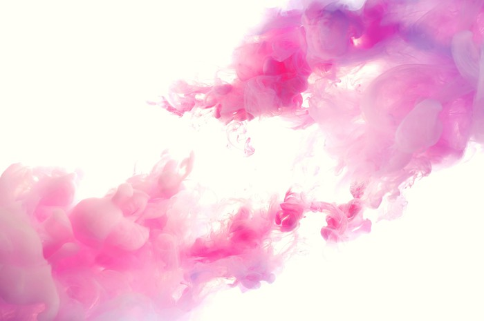 Image of pink clouds on a white background.