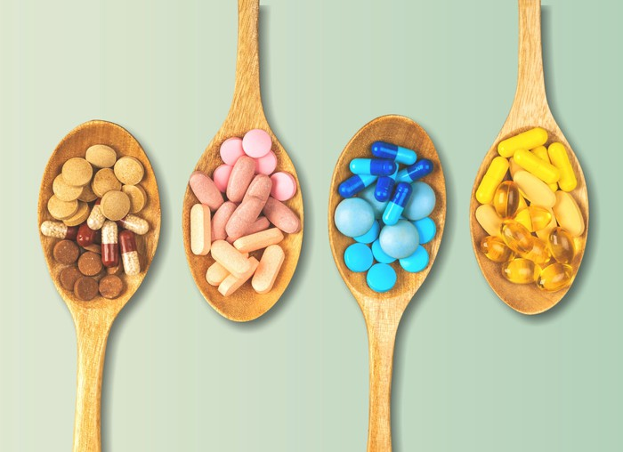 Four spoonfuls of vitamins.