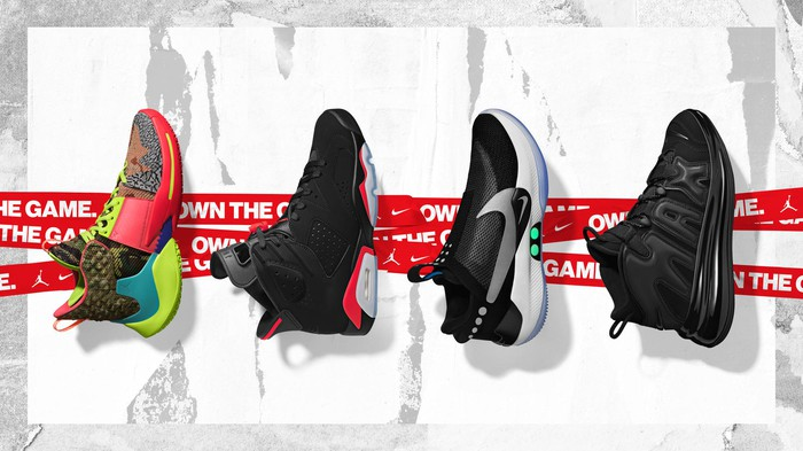 A selection of Nike basketball shoes.