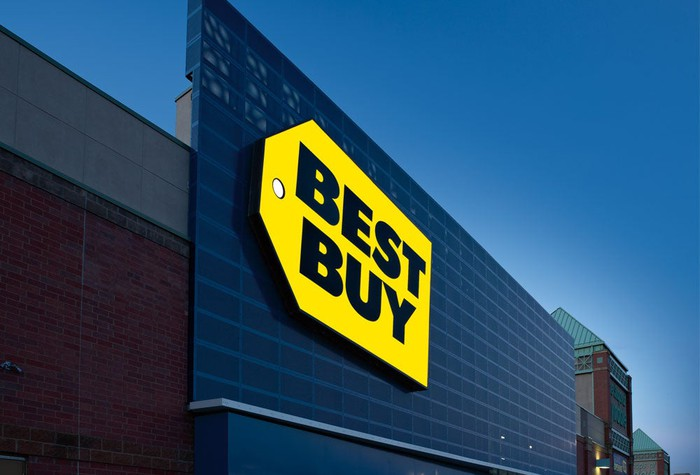 The front of a Best Buy store.