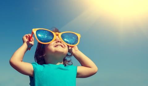 Getty Sun on Girl with Big Sunglasses