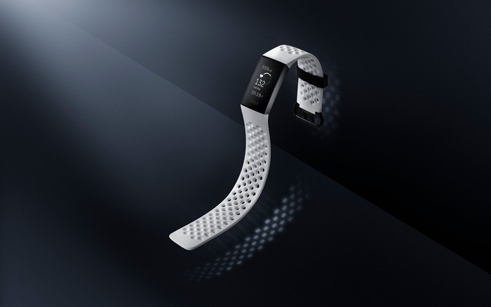 The Fitbit Charge 3.