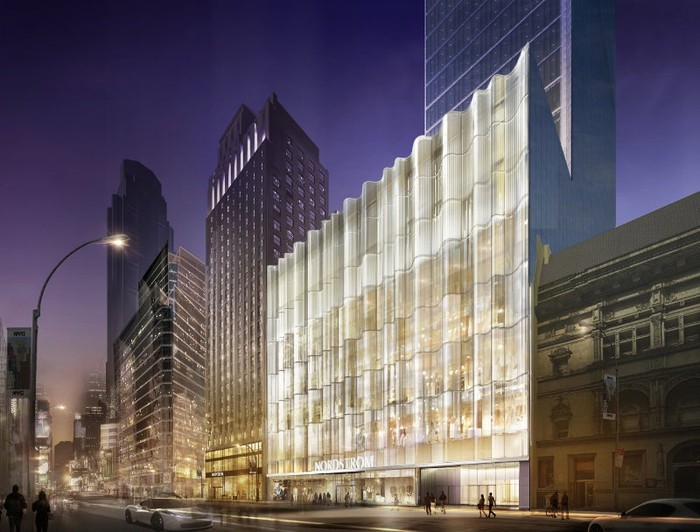 A rendering of the Nordstrom Manhattan flagship store