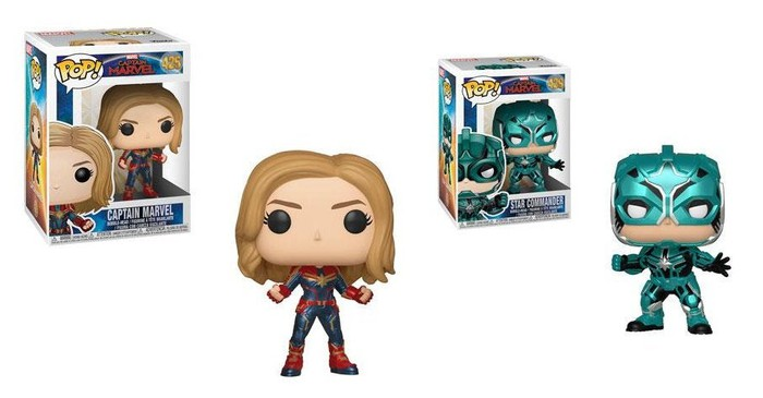 Funko's Captain Marvel Pop figures.