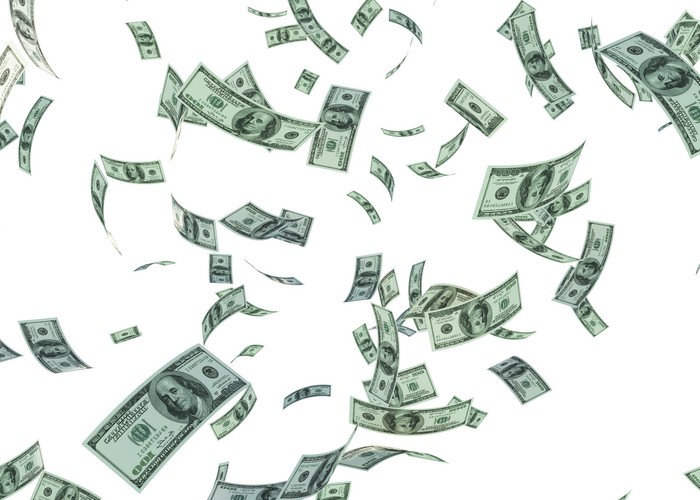 Cash falling.