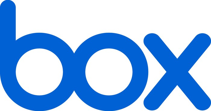 The Box Inc. logo in blue lettering against a white background.