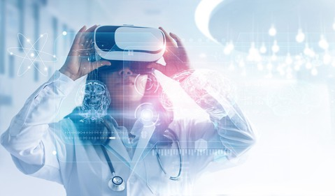 Doctor in VR Headset