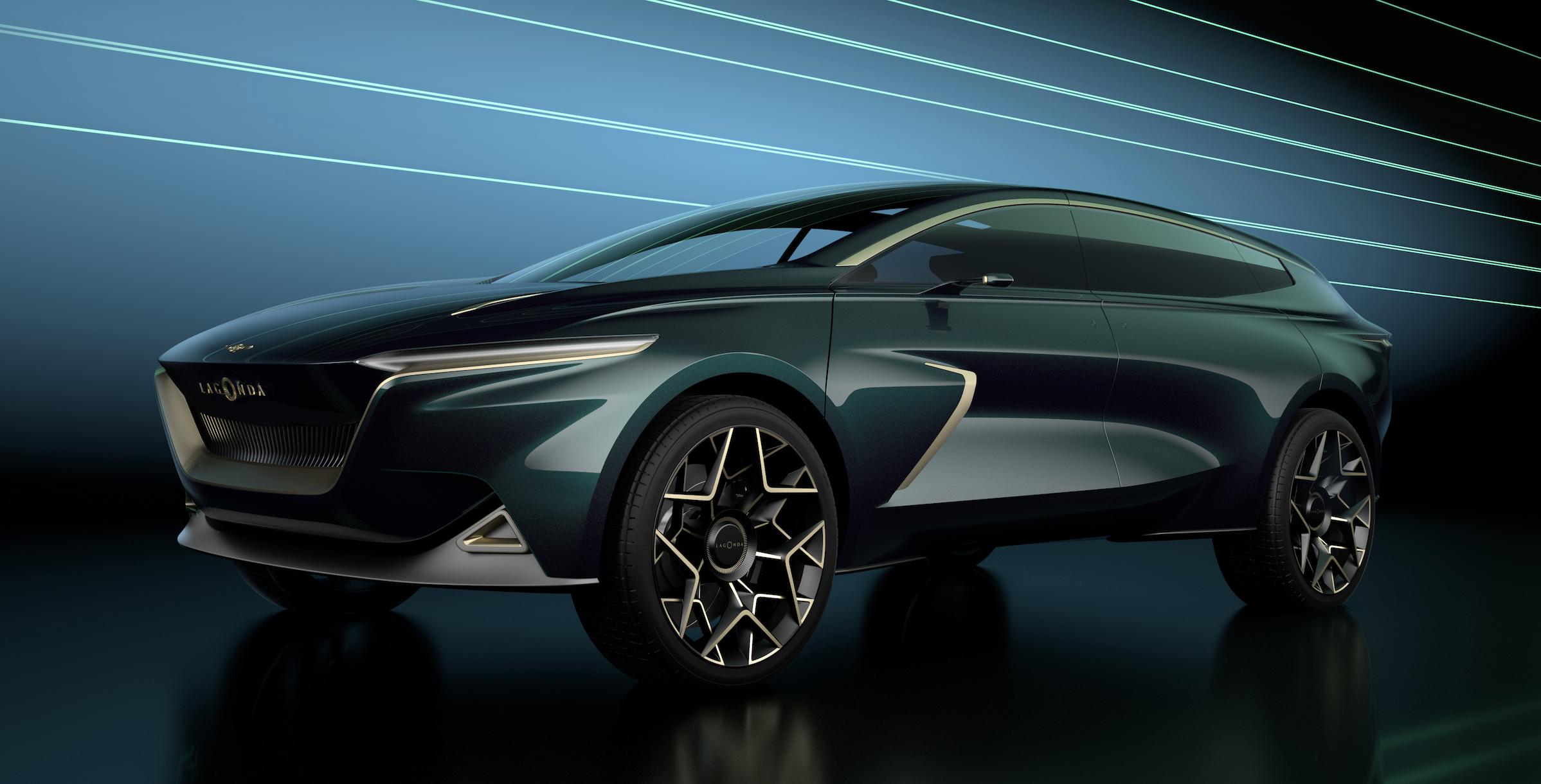 The Lagonda All-Terrain Concept, a long and sleek ultra-luxury SUV.