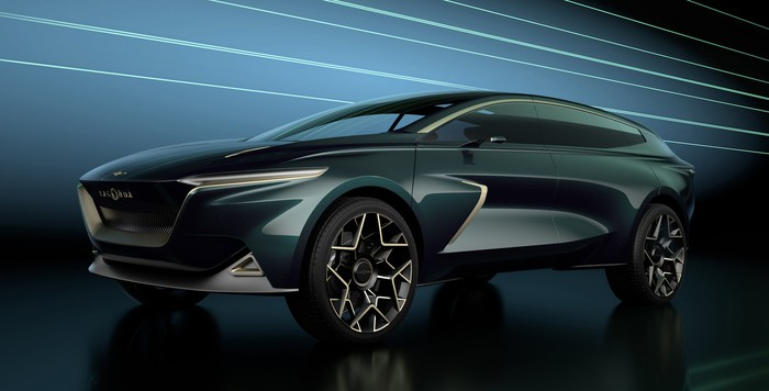 The Lagonda All-Terrain Concept, a long and sleek ultra-luxury SUV.