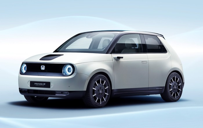 The Honda E Prototype A Small Hatchback With Styling Reminiscent Of 1970s Civic