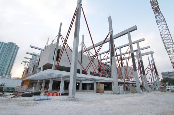 Miami Art Museum under construction.