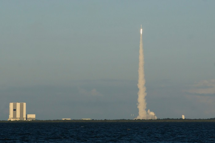 Atlas V rocket launch from Cape Canaveral.
