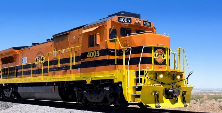 A Genesee & Wyoming locomotive