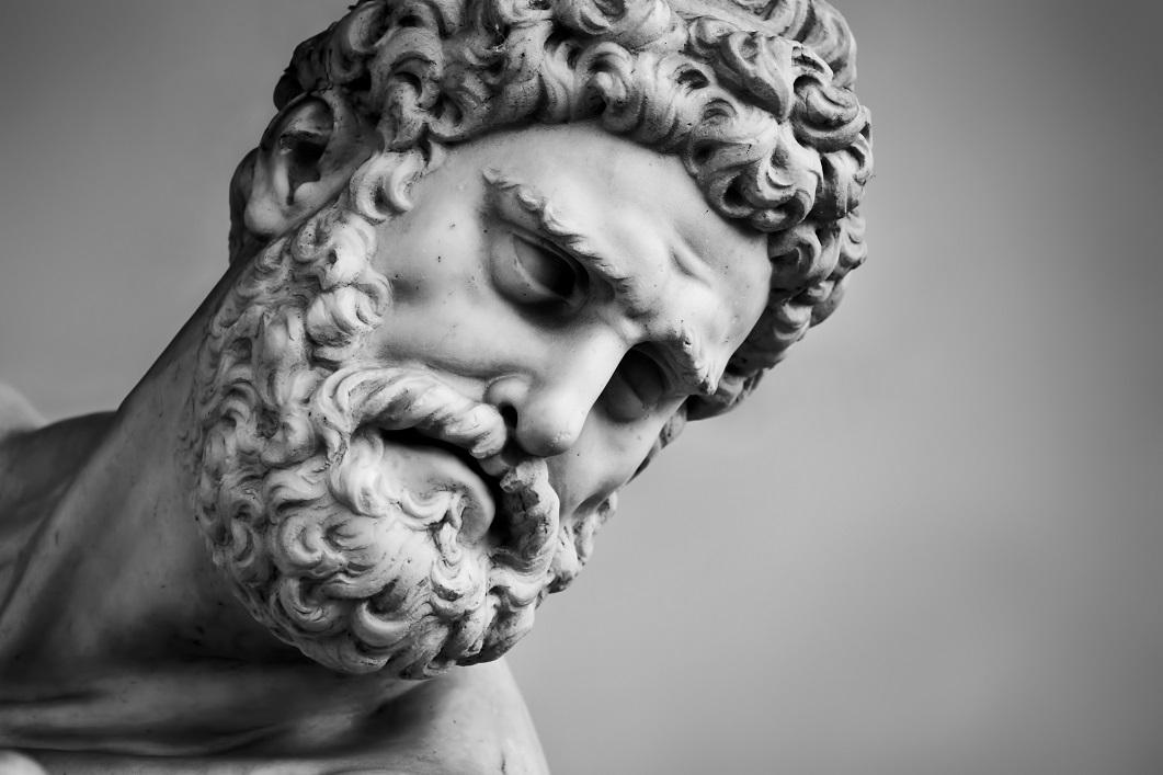 Hercules statue.