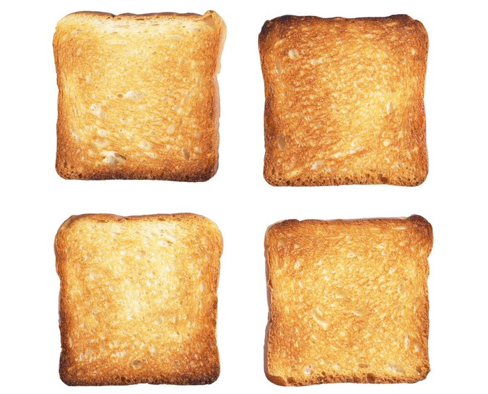 Four pieces of toast.
