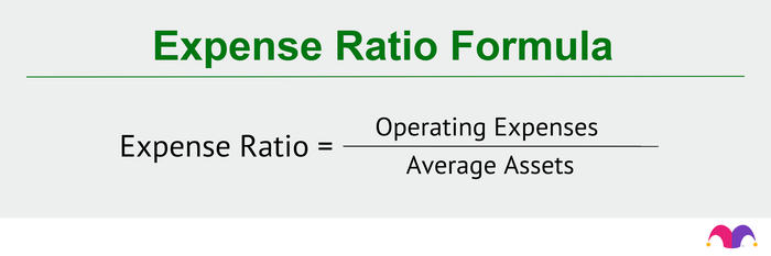 The expense ratio formula is operating expenses divided by average assets