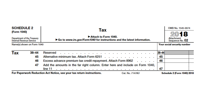 IRS Schedule 2: Will You Owe Extra Tax?
