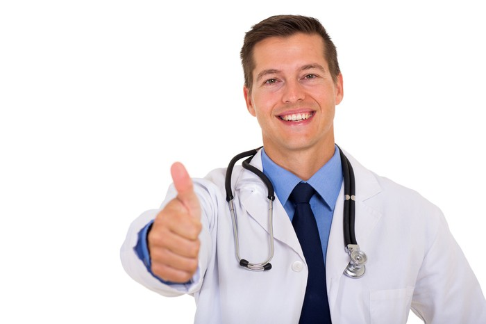 Doctor giving the thumbs-up.